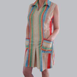 Vintage 60's/70's Romper Playsuit - Rainbow Stripe